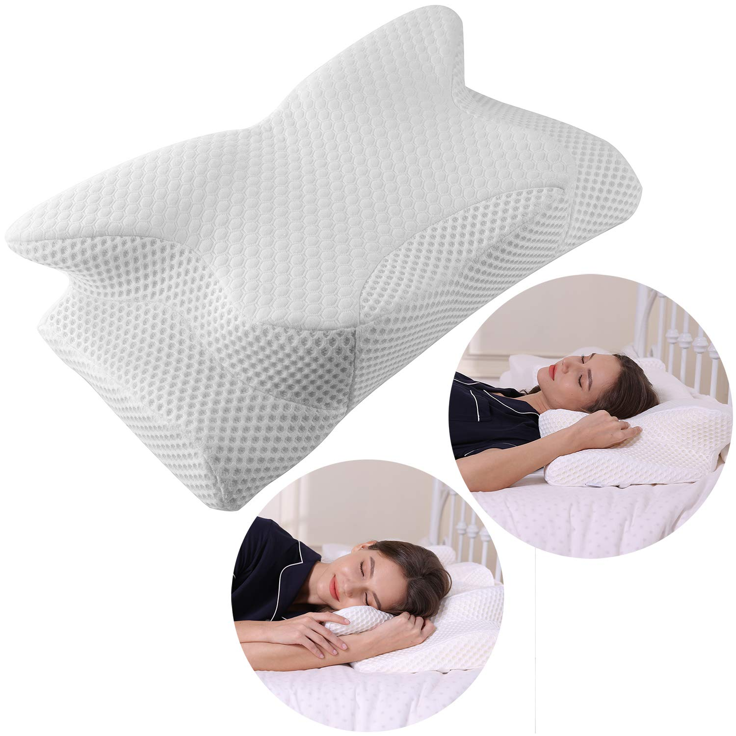 Cervical Pillow Contour Pillow for Neck and Shoulder Pain, Coisum Orthopedic Memory Foam Pillow Ergonomic Bed Pillow for Side Sleepers Back Sleepers,