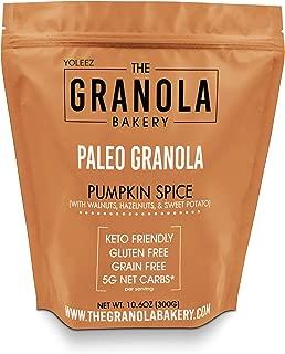 Granola Bakery - Grain Free Pumpkin Spice Granola, 5g Net Carb, 10.6Oz Bag - Paleo Keto Dessert, Healthy Low Carb Dessert, Gluten Free, Diabetic Friendly
