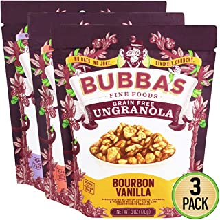 Bubba's Fine Foods Grain Free, Paleo Granola | Variety Pack, 6 Ounce (Pack of 3)