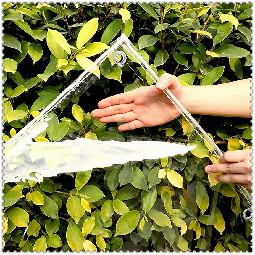 Spring new work LSXIAO Transparent Tarpaulin Clear Vinyl Tarp Water Cover Shipping included Slid