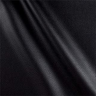 Fabric Black Cabo Faux Leather Yard