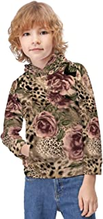 Kid's Novelty Sweater Striped Flower Leopard Print Pullover Hoody Sweatshirt Teen's Breathable Sports Hoodies-