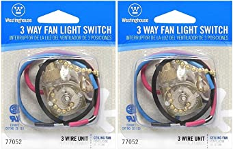 Westinghouse Lighting Corp 3 Way Fan Light Switch (Pack of 2)