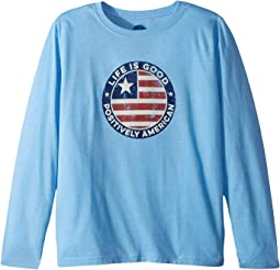 Positively American Coin Cool T-Shirt Long Sleeve (Little Kids/Big Kids)