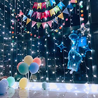 Ever Smart String Lights LED Curtain Lights Twinkle String White Lights 8 Modes New Version Fairy Linkable String Light for Christmas Party Wedding Patio Lawn Garden Decorative Lights