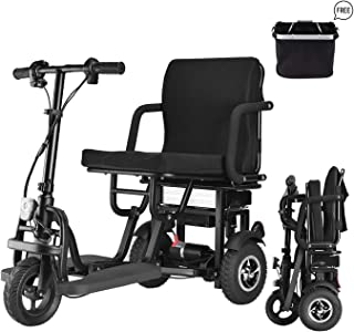 WISGING Scooter Mobility Folding Electric Mobility Scooter 3 Wheel Lightweight Portable Power Travel Scooters - Support 28...
