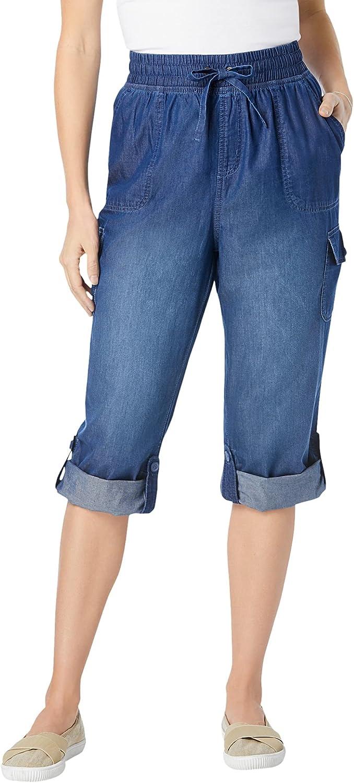 Woman Within Women's Plus Size Petite Convertible Length Cargo Capri Pant