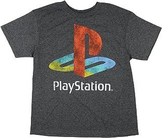 PlayStation Shirt Classic Logo Distressed Heather T-Shirt