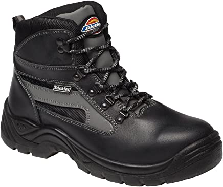Dickies Severn S3 Super Safety Boot Lightweight & comfortable Steel Toe Cap & Mid Sole EN20345 BLACK FA23500 Sizes 14