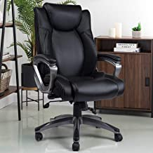 REFICCER Multifunctional Office Chair - 360°Movable Lumbar Support and Adjustable Tilt Angle High Back Bonded Leather Ergo...