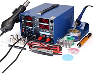 YIHUA 853D 2A USB SMD Hot Air Rework Soldering Iron Station, DC Power Supply 0-15V 0-2A..