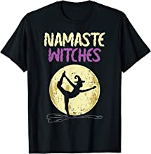 Namaste Witches T-Shirt Halloween Yoga Lover Costume Moon