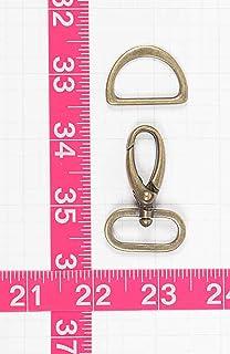 Patterns ByAnnie Hardware Set Antique Brass 1in Swivel Hook & D-Ring