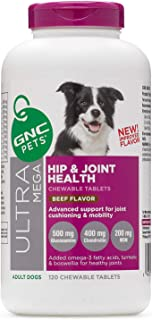 GNC Pets Ultra Mega Hip and Joint Health - Adult Dogs - Beef Flavor
