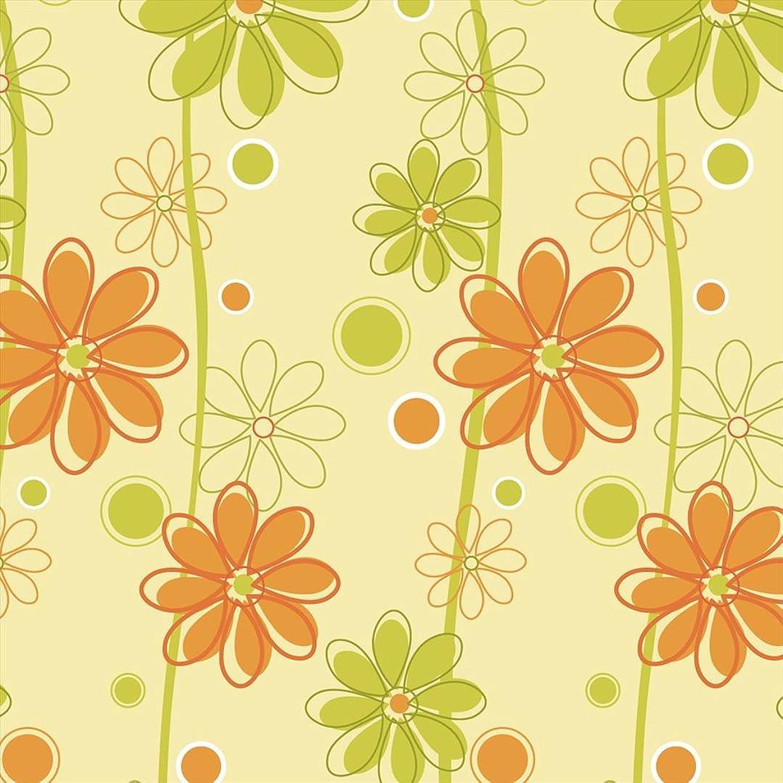 絶縁するキリマンジャロクレデンシャルポスター ウォールステッカー 正方形 シール式ステッカー 飾り 30×30cm Ssize 壁 インテリア おしゃれ 剥がせる wall sticker poster フラワー 花 黄緑 000693