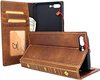 Genuine Real Leather Case for Apple iPhone 8 Plus Book Bible Wallet Thin Cover Handmade Retro Jafo Luxury Cards Slots Slim Daviscas 7 Plus