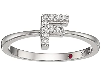 Roberto Coin Tiny Treasure Initial F Love Letter Ring (White Gold) Ring