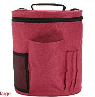 Kztiton - Kit Crochet - Portable Large Capacity Tote Holder Organizer Prevent Tangling Knitting Diy Oxford Fabric Multi - Linens Roll Luggage Snack Zippered Outside Tree Green Bulk Avent Spect