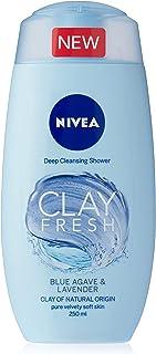NIVEA Clay Fresh Body Wash, Blue Agave & Lavender, 250ml