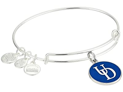 Alex and Ani Color Infusion University of Delaware Logo II Bangle (Shiny Silver) Bracelet