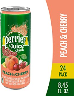 Perrier & Juice, Peach and Cherry Flavor, 8.45 Fl Oz. Cans (24 Count)