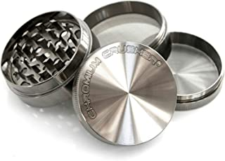 Chromium Crusher 2.2 Inch 4 Piece Tobacco Spice Herb Grinder - Gun Metal