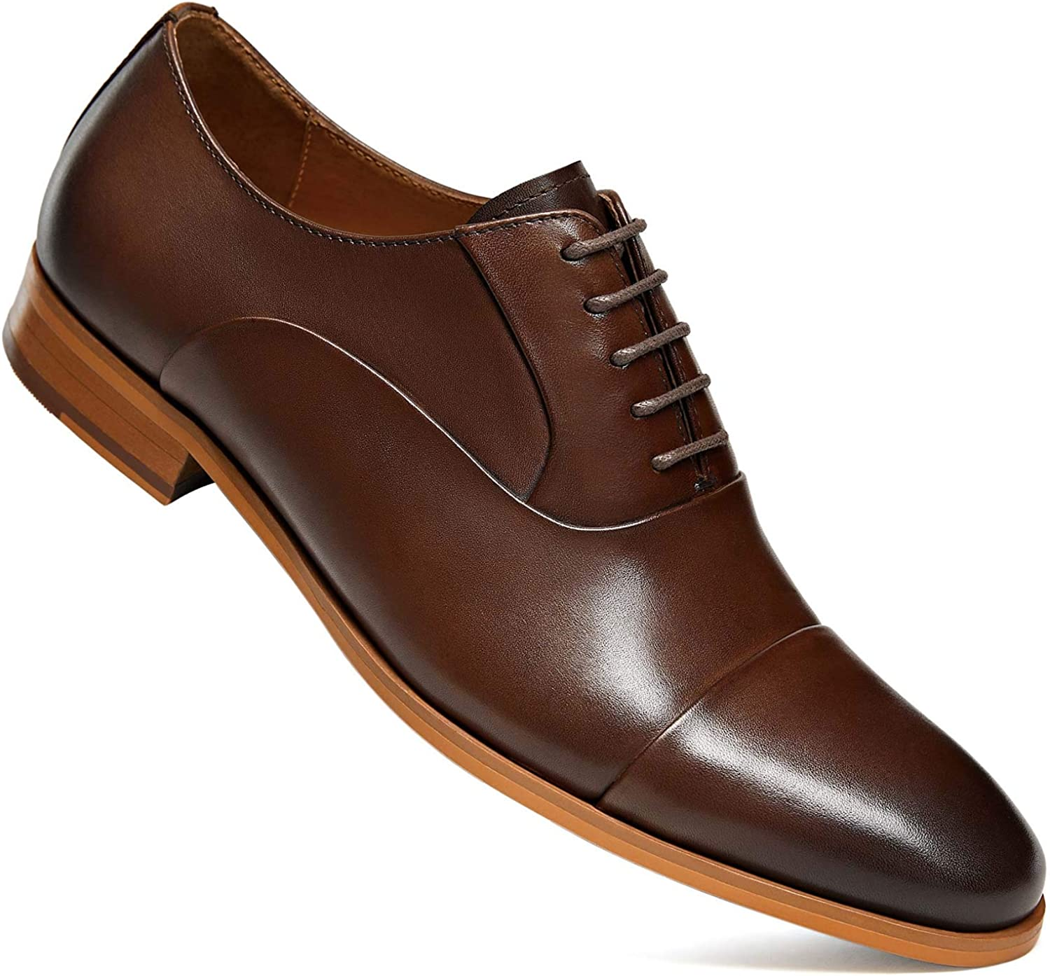 FRASOICUS Mens Dress Shoes Oxford Up Leather Wingtip Formal security Import Lace