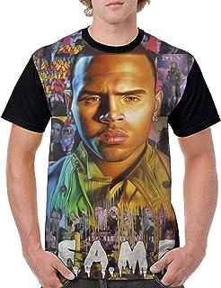 PPneby Chris Brown Fame Men`s Adult ComfortSoft Short Sleeve Tee Shirt Black