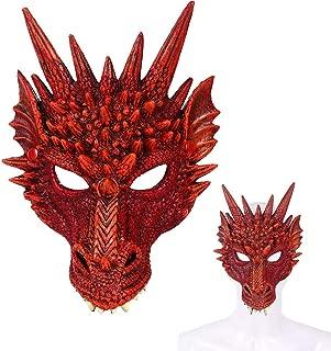 Soft Rubber 3D Dragon Mask Halloween Cosplay Costum