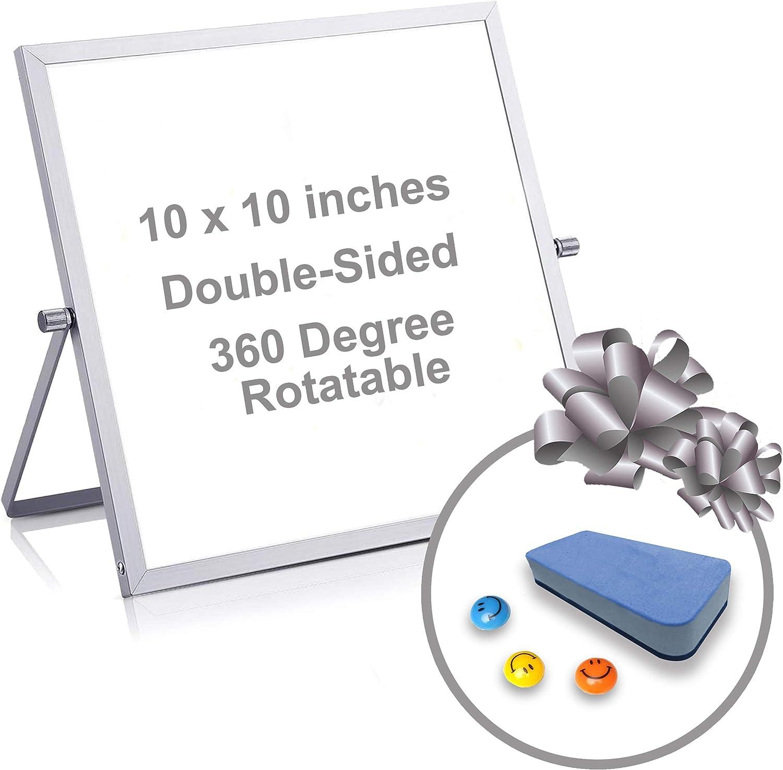 Nippon regular agency Small White Board Import - 10x10 Dry Magnetic Whiteboard Mini Erase P