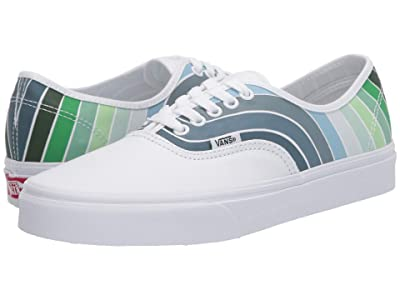 Vans Authentictm ((Refract) True White/Multi) Skate Shoes
