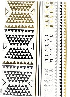 Tatuajes metálicos en plata, oro y negro con diferentes diseños ...