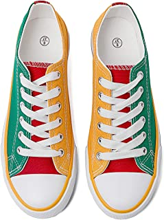 Womens Canvas Shoes Color Patchwork Shoes Fashion Sneakers for Women