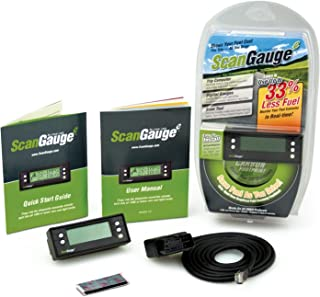 ScanGaugeE Compact Multifunction Trip Computer with Customizable Real-Time Fuel Economy Digital Gauges