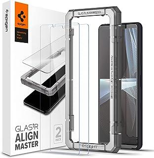 Spigen AlignMaster Skärmskydd kompatibel med Sony Xperia 10 III, 2 Stycken, met sjabloon voor installatie, kristallklart, ...