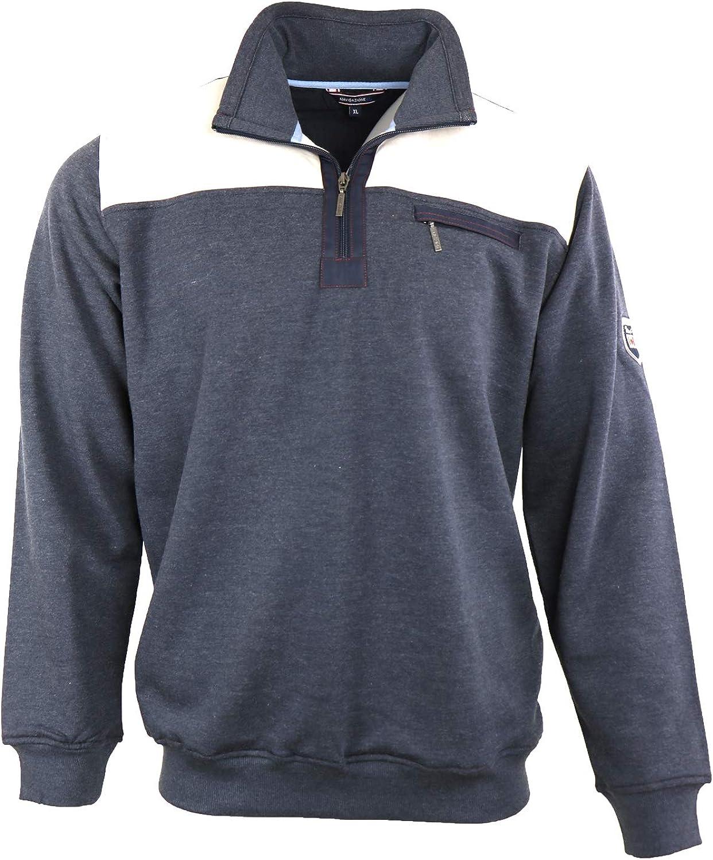 Navigazione Sweater in dunklem Graublau-Melangeton und Troyer, Gr. M