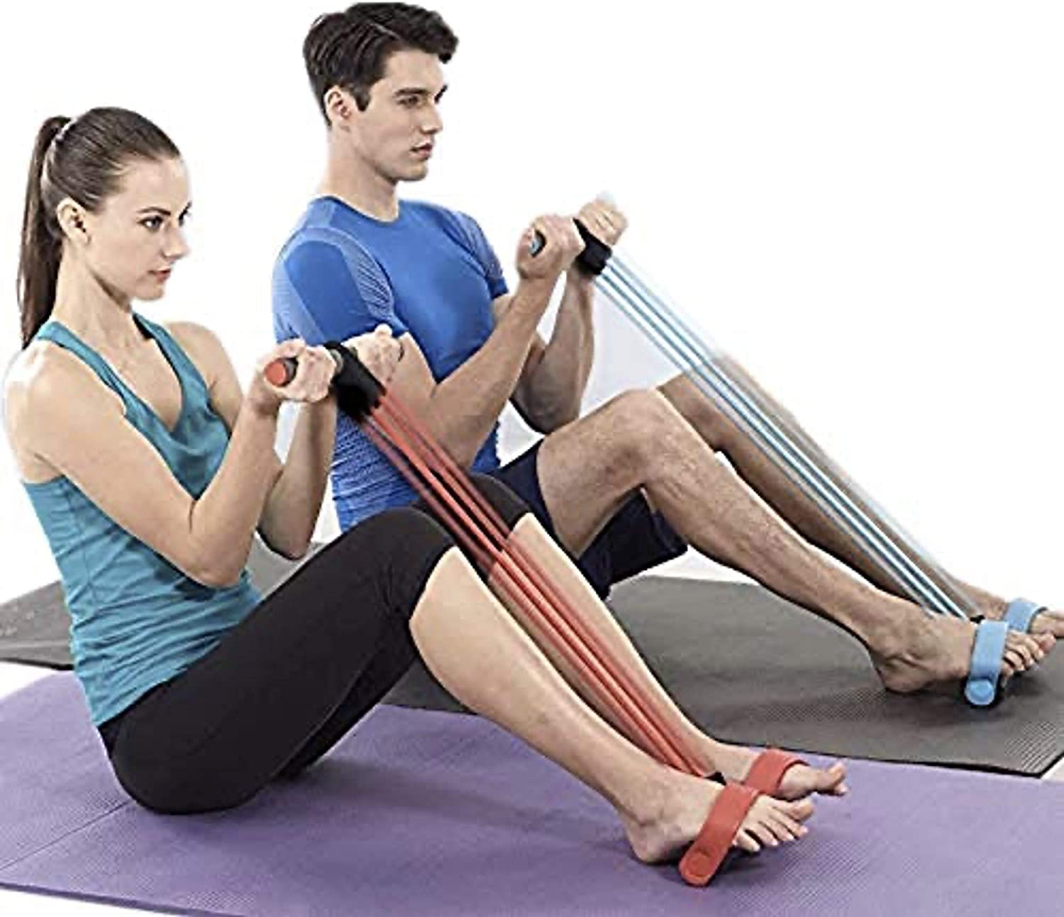 Max 85% OFF Abdominal Waist Leg Slimming Trainer Special sale item Upgrade 4-Tube Fitness Si