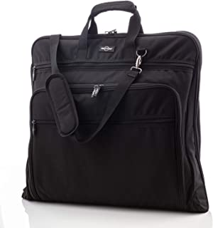 44-Inch Garment Bag for Travel – Water-Resistant Carry-On Suit Carrier (Black)