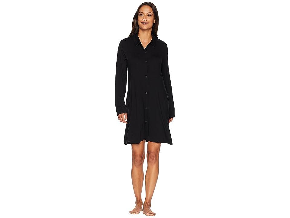 Donna Karan Sleepshirt (Black) Women