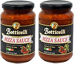 Botticelli Premium Italian Pizza Sauce for Authentic Italian Taste - (Pack of 2) - Made in Italy, Low Carb, Low Sugar, Ket...
