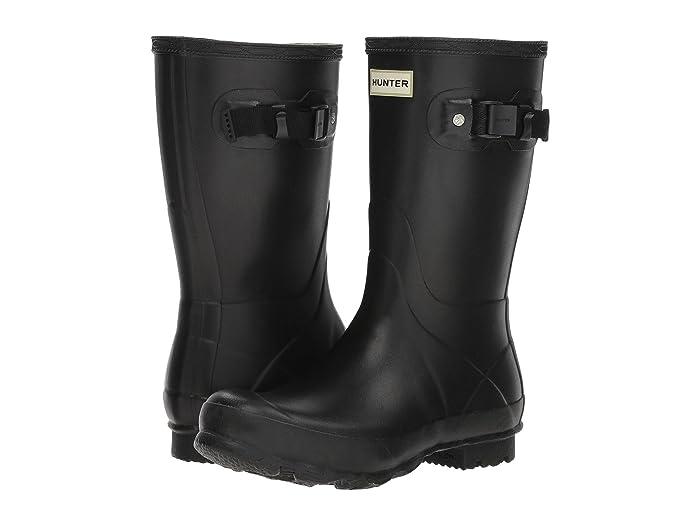 Hunter  Norris Field Boot Short (Black) Womens Rain Boots