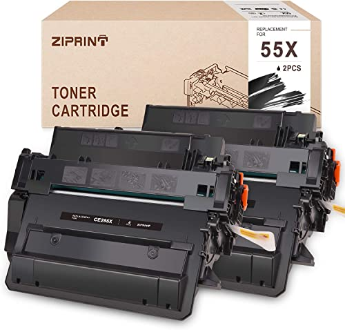 new arrival ZIPRINT outlet online sale Compatible Toner Cartridge Replacement for 55X CE255X wholesale 55A CE255A High Yield, for HP Laserjet P3015 M521dn P3010 M525f P3015n P3015dn P3015d P3015x M521dw M525c M525dn (2 Black) outlet sale