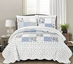 Blissful Living Luxury Ruffle Quilt Set Including Shams - Lightweight and Soft for All Seasons - Beatrice Blue - King