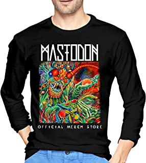 MarshallD Men's Mastodon Once More Round The Sun Cotton Long Sleeve T-Shirts Black