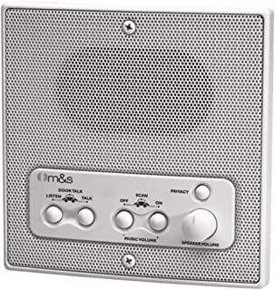 M&S Systems DMC1RS Intercom Indoor Remote Room Speaker White W/Radio Scan Electronics Computers Accessories