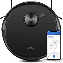 Ecovacs DEEBOT OZMO T8 AIVI Vacuum Cleaner, Robotic Vacumm and Mop in One-Go, Precise Laser Mapping Smart AI Object Recogn...