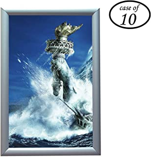 Aluminum Snap Frame for Poster 11 x 17 Inches, 25mm Profile, Color Silver,10 Pack