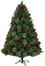 Artificial Christmas Tree, Indoor Ourdoor Xmas Tree with Barries and Pine Cone Flame Retardant Holiday Decoration Easy Ass...