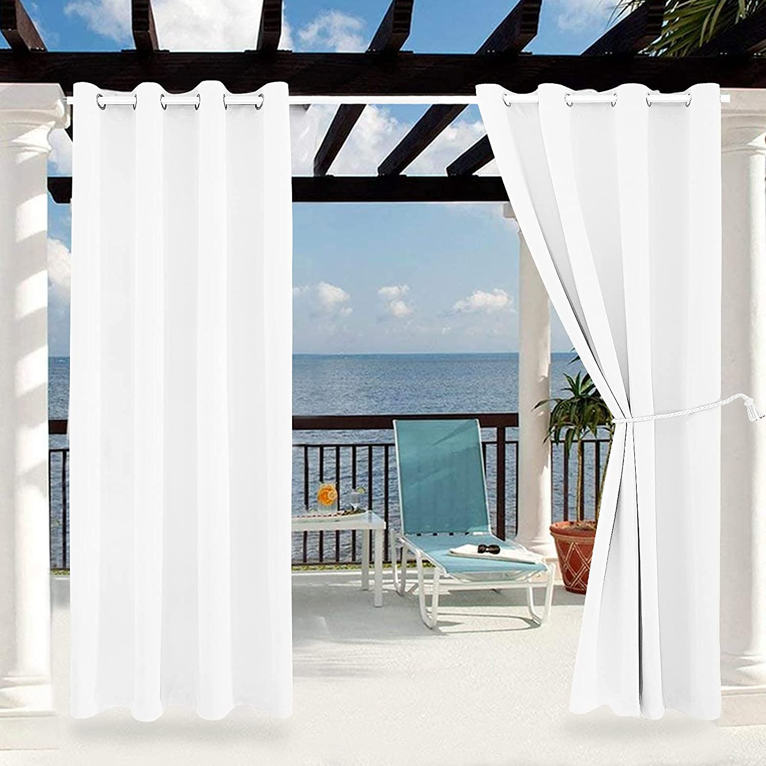 Outdoor Indoor Curtains Max 52% OFF W52 x - L108 Max 48% OFF Weather-Resistant Patio for