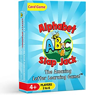 Arizona GameCo Alphabet Slap Jack - a Fun ABC Letter Learning Card Game - Kids Learn Upper/Lowercase Letter Recognition an...